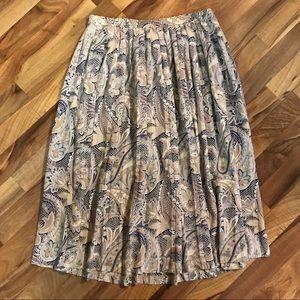 Alfred Dunner • Pleated Paisley Midi Skirt